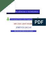 Ementa de Mecnica Dos Slidos 2012-01