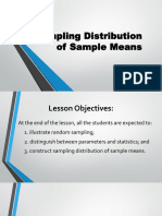 Sampling Distribution of Sample Means