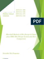 Comparison Between Marshall Method
