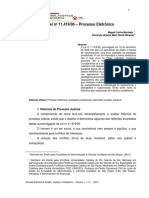 Artigo Lei n. 11419 Processo Eletrônico Judicial - PJE