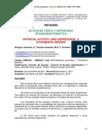 ACTIVIDAD FÍSICA Y DEPRESIÓN. REVISIÓN SISTEMÁTICA