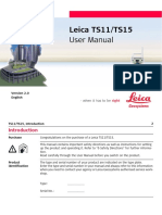 Leica Viva TS11 TS15 User Manual