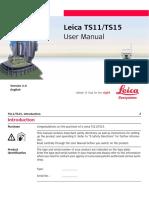 Leica Viva TS11 TS15 User Manual