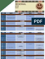 Calendário Regional UEB-PA (2019)