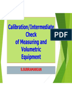 Calibration Intermediate Check of Measuring and Voulmetric Equipemnt, Mr. Subramanian, NABL Assessor, .pdf
