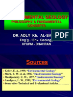 Environmental Geology (Phylosophy & Fundamental Concepts)