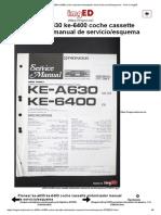 Manual Pioneer Ke a630