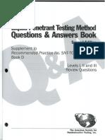 ASNT LEVEL 3 EXAM PENETRANT TEST