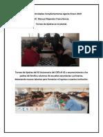 Reporte de Actividades Complementarias Agosto Enero 2019