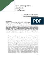 """""""As demarcações participativas e o fortalecimento das organizações indígenas"""". Oliveira, João Pacheco & Iglesias, Marcelo Piedrafita. In"""