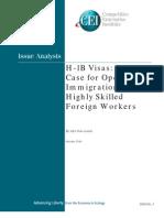 Alex Nowrasteh - H-1B Visas