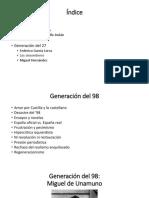 generación 98 y 27