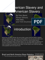 diff between n and s america slavery