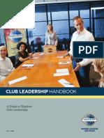 Toastmasters Club Leadership Handbook