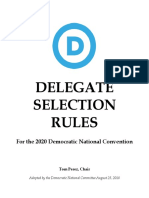 Delegate Selection Rules for the 2020 Democratic National Convention