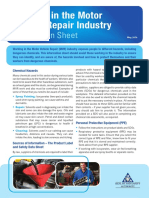 Motor Vehicle Repair Information Sheet