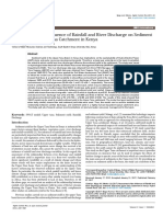 Assessment of the Influence of Rainfall and River Discharge on Sedimentyield in the Upper Tana Catchment in Kenya 2157 7587 1000263