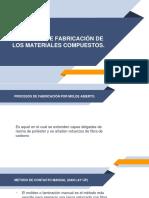 Procesos de Fabricación de Los Materiales Compuestos