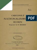 Balcescu - Originile Nationalismului Roman