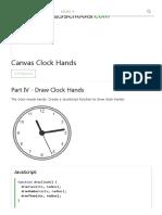 Canvas Clock Hands