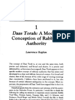 Kaplan, Lawrence - Daas Torah, A Modern Conception of Rabbinic Authority