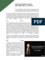 Biografía de Pierre Laplace