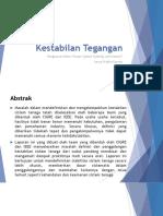 Definisi Dan Klasifikasi Stabilitas Sistem Tenaga