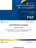 CARACTERÍSTICAS DE LA FILOSOFÍA