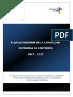 Plan de Residuos de Cantabria 2017 - 2023