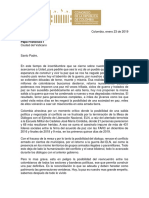 Carta Bancada Alternativa Al Papa