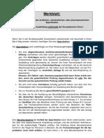 Merkblatt Approbation Nicht EU Staaten