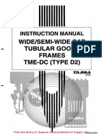 Tajima TME-DC(Type 2) Wide Cap Tubular Goods Frame Instruction Manual (1)