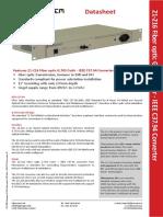 Fiber Optical Converter G.703 Codir IEEE C37.94!21!216