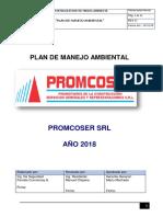 Plan de Manejo Ambiental Promcoser 2018