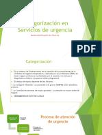 Categorización en Servicios de Urgencia