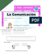 Ficha Formas de Comunicacion Para Quinto de Primaria