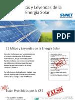 Mitos y Leyendas de La Energía Solar