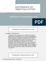 Maintenance of Overhead Transmission Lines