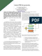 PID Posicion usando una FPGA