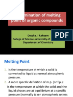 Determination of melting point of organic compounds