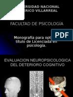 Evaluación neuropsicológica del deterioro cognitivo