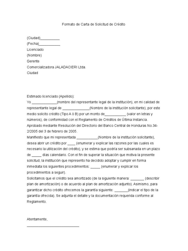 Carta solicitud de credito - Como solicitar un prestamo hipotecario ...