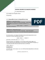 Equações Diferenciais Lineares de Ordem Superior