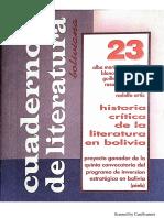 Cuadernos de Literatura 23 (UMSA)