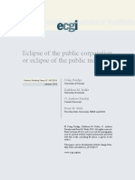 Eclipse of the Public Corporation or Eclipse of the Public Markets
