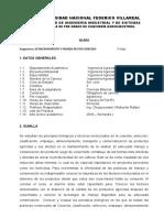Silabo Pos Cosechas 2018