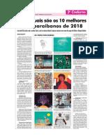 Os dez melhores discos paraibanos lançados em 2018