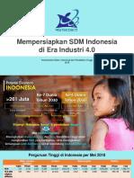 Kemenristekdikti Mempersiapkan SDM Indonesia Di Era Industri 4.0