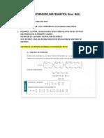 Trabajo Dirigido Matemática 3ros