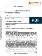 Dispersal and Movimente of Insects Pests